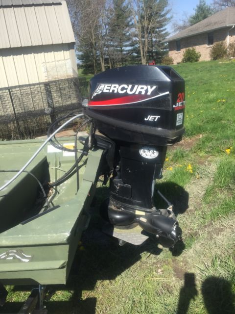 12 39 alumacraft boat with console 20 hp 2005 mercury jet for 20 hp motor for sale
