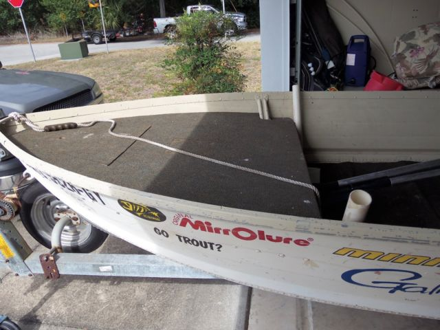 14 Foot Smokercraft Boat With 15 H P Mercury Motor And