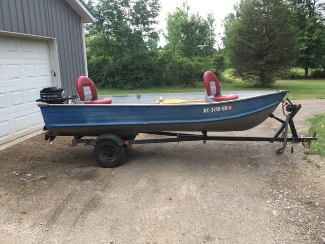 14 ft aluminum fishing boat with 9 8 mercury motor and lil for 14 ft fishing boat
