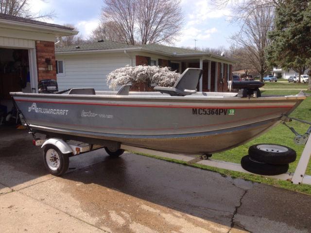 "Alumacraft Boats For Sale >> 14' 6"" Alumacraft Lunker V14 LTD fishing boat 35hp Mercury for sale in Davison, Michigan, United ..."