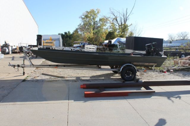 18 Ft Alumacraft Jon Boat Duck Boat With 23 Hp Mudbuddy