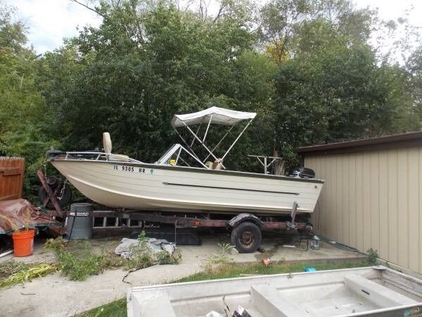 18 39 starcraft aluminum deep v boat for sale in lincolnwood for Deep v fishing boats