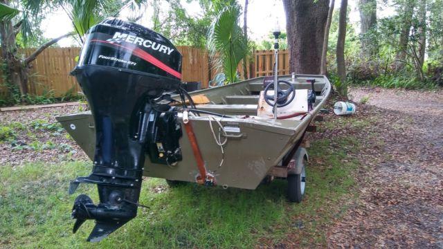 1852mt lowe jon boat w 2004 40hp four stroke mercury efi for Mercury outboard motors for sale in florida