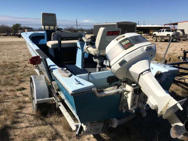 19 39 Falcon Bass Boat Tri Hull W 88 Johnson Motor For Sale