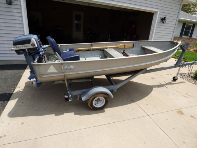 1956 ALUMACRAFT RB 12 Foot Boat with Factory Trailer for sale in