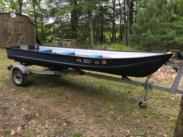 1973 14 foot aluminum smoker craft boat fishing with for Aluminum craft boats for sale