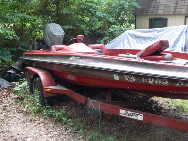 1993 glassport bass boat 20 ft 4 inches tennessee traler for Used 200 hp mercury outboard motors for sale
