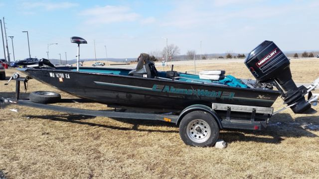 1995 18ft Alumaweld Bass Boat With Trailer For Sale In