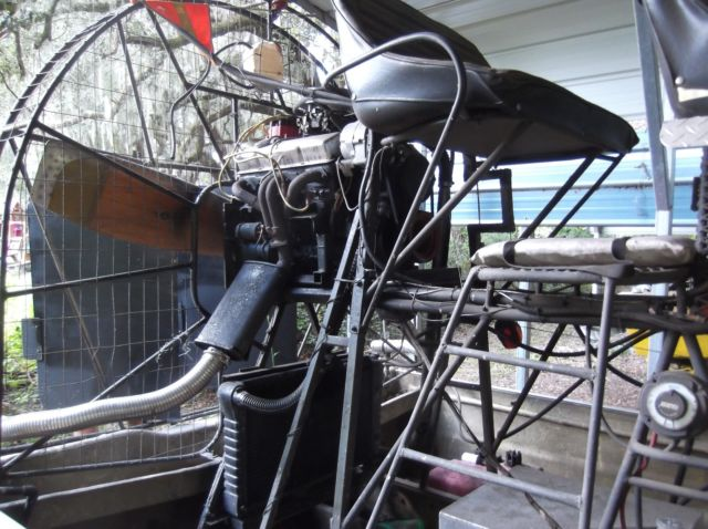 Cottonmouth Airboat With Small Block Chevy V Engine And Quot Prop