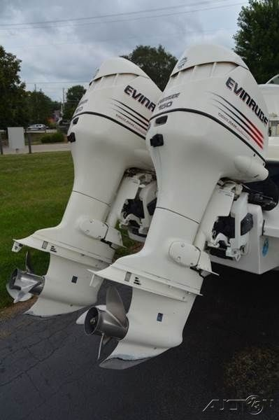 25 Hp Evinrude For Sale >> 2002 Bombardier Fish Hawk WA Cuddy 24ft Dual Evinrude 150HP Engines for sale in Crystal Lake ...