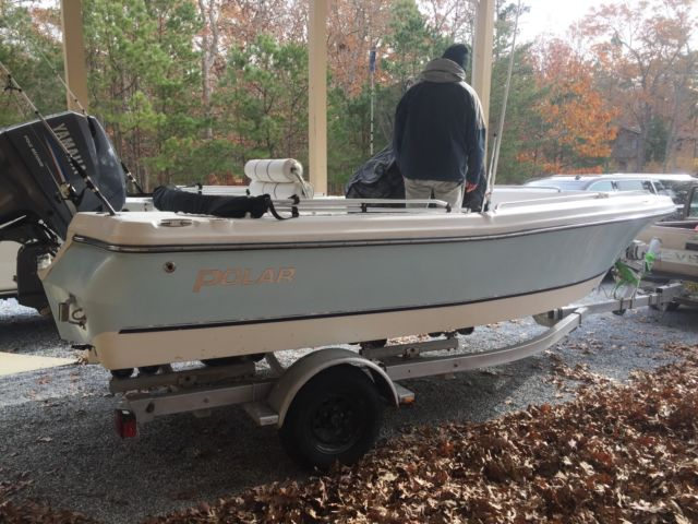 2003 polar center consol fishing boat with 115 yamaha four