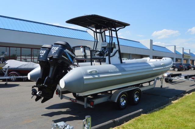 2004 Nautica 24 Rib Inflatable Catamaran Twin Merc 115hp