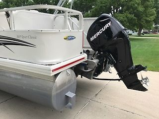 2007 crestliner 1885 sport pontoon boat w mercury 50 hp for Outboard motors for sale in wisconsin