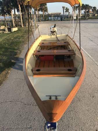 2012 Custom SKIFF boat 2013 Evinrude E-tec 25hp for sale in Daytona