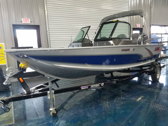 2016 alumacraft voyager 175 le with yamaha 115 hp bimini for Yamaha boat cover