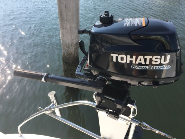2016 Tohatsu 6hp Outboard Engine With Built In Fuel Tank