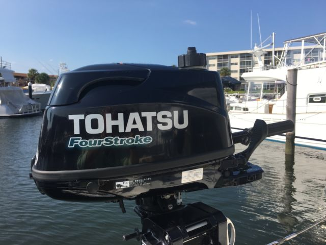 2016 tohatsu 6hp outboard engine with built in fuel tank for Palm beach electric motors