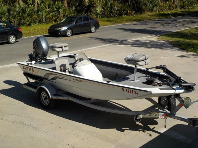 21 hours 2016 alumacraft 165 prowler aluminum bass boat 40 for 40 hp yamaha for sale