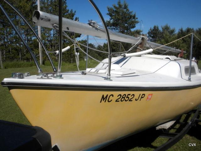 21ft Macgregor Venture Sailboat 4 Hp Mariner Outboard