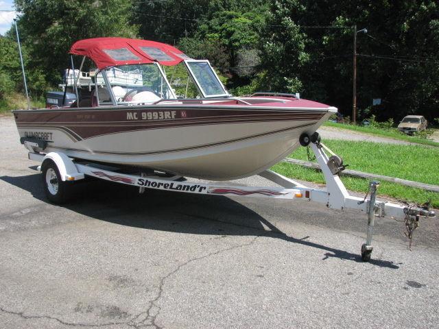 Alumacraft trophy sport 165 fishing boat tracker 75 hp for Yamaha fishing boats