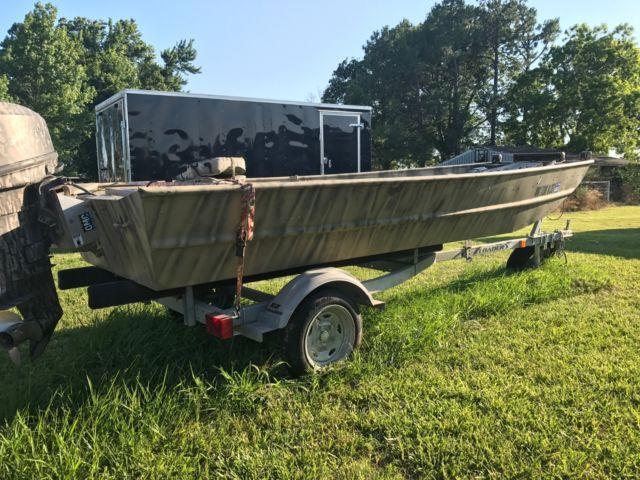 Aluminum duck jon boat flat Bottom for sale in Haskell, Oklahoma