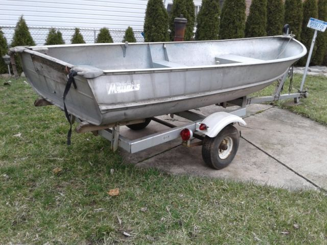 Aluminum fishing boats and trailer for sale in melvindale for Used aluminum fishing boats for sale in michigan