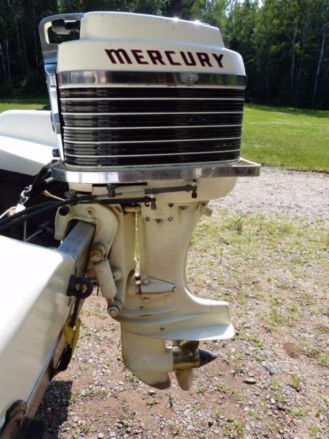 Classic 1957 Lake N Sea Fiberglass Boat Mercury Outboard