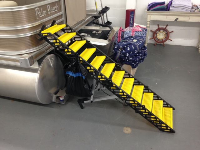 Dog boarding ladder for pontoon boats Wag Free shipping for