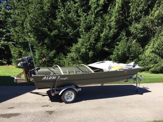 Duck hunting boat motor aluma craft 14 39 boat 12 hp for Outboard motors for sale in wisconsin