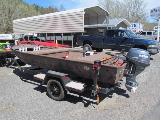 Fisher 1448 JON Boat Yamaha 15 Hp  Engine 4 Stroke for sale