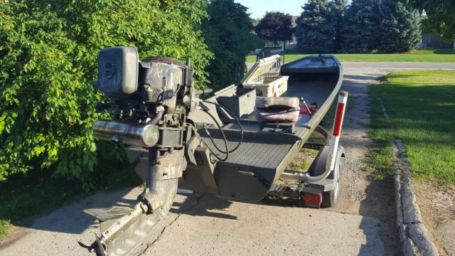 Gator Trax Duck Boat W 36 Hp Pro Drive Mud Motor For Sale