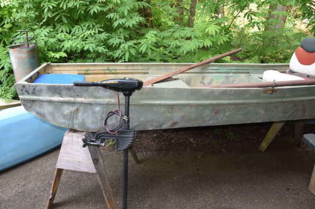 jon boat minn kota motor duck boat fishing boat 10 ft