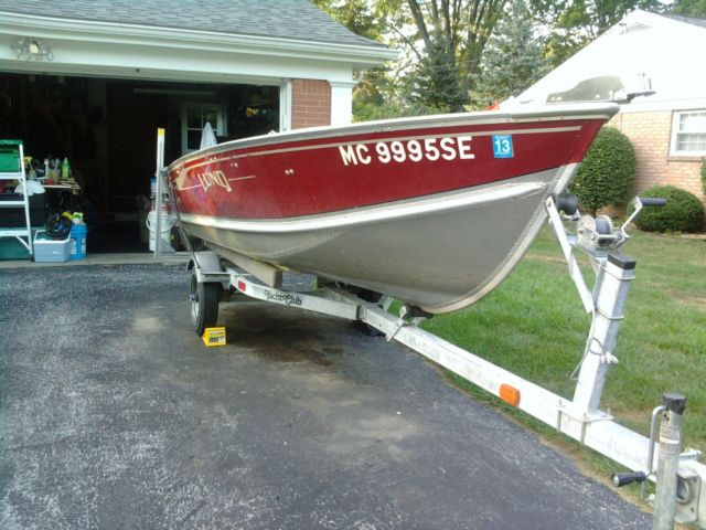 Lund aluminum boat 14 foot 15hp outboard trailer for for Outboard motors for sale in michigan