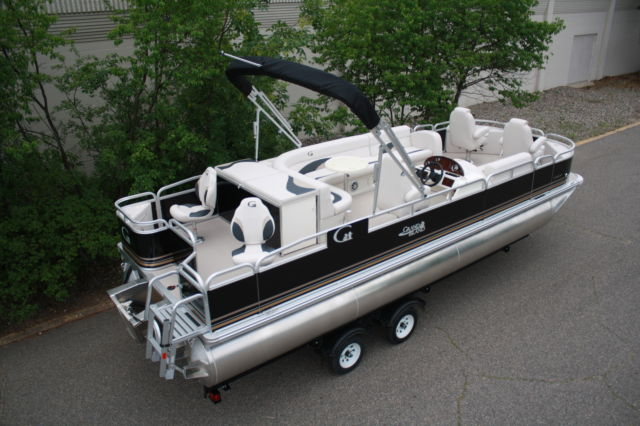 New Triple Tube 24 Ft Fish And Fun Pontoon Boat 150 Four