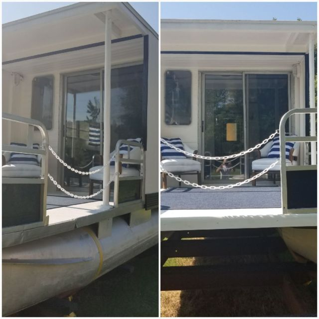 Newly Remodeled Trailerable Pontoon Houseboat For Sale In