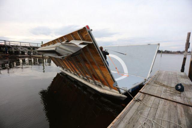 Pontoon Boat Helipad W Folding Sides 24 X 24 For Sale