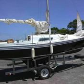 1972 SOUTH COAST ,22 FOOT SWING KEEL SAIL BOAT PROJECT for